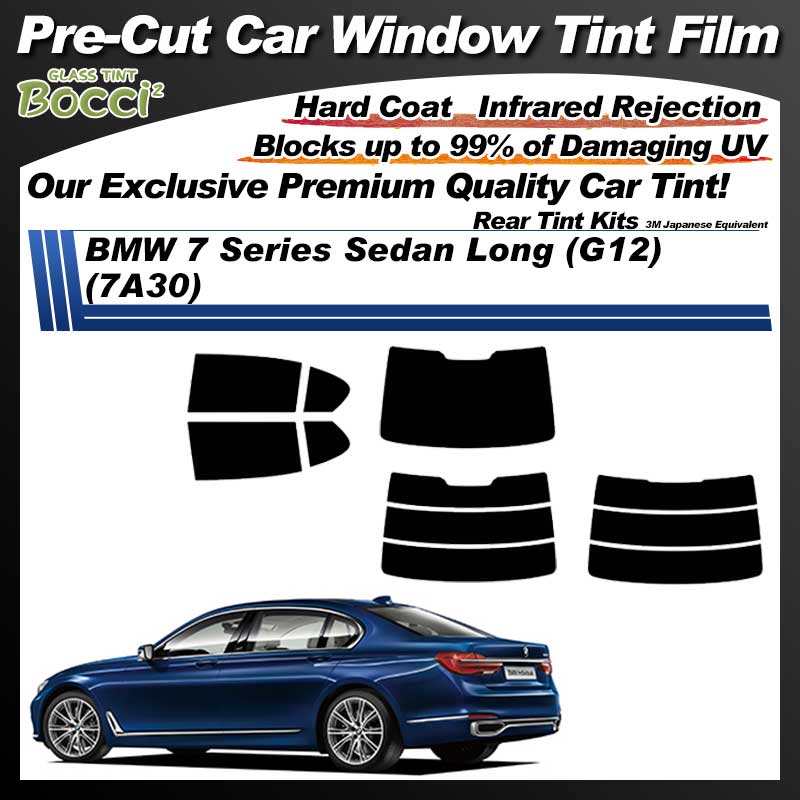 BMW 7 Series Sedan Long (G12) (7A30) Pre-Cut Car Tint Film UV IR 3M Japanese Equivalent