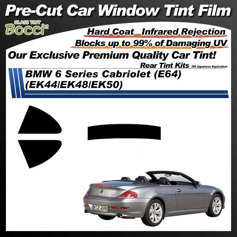 BMW 6 Series Cabriolet (E64) (EK44/EK48/EK50) Pre-Cut Car Tint Film UV IR 3M Japanese Equivalent