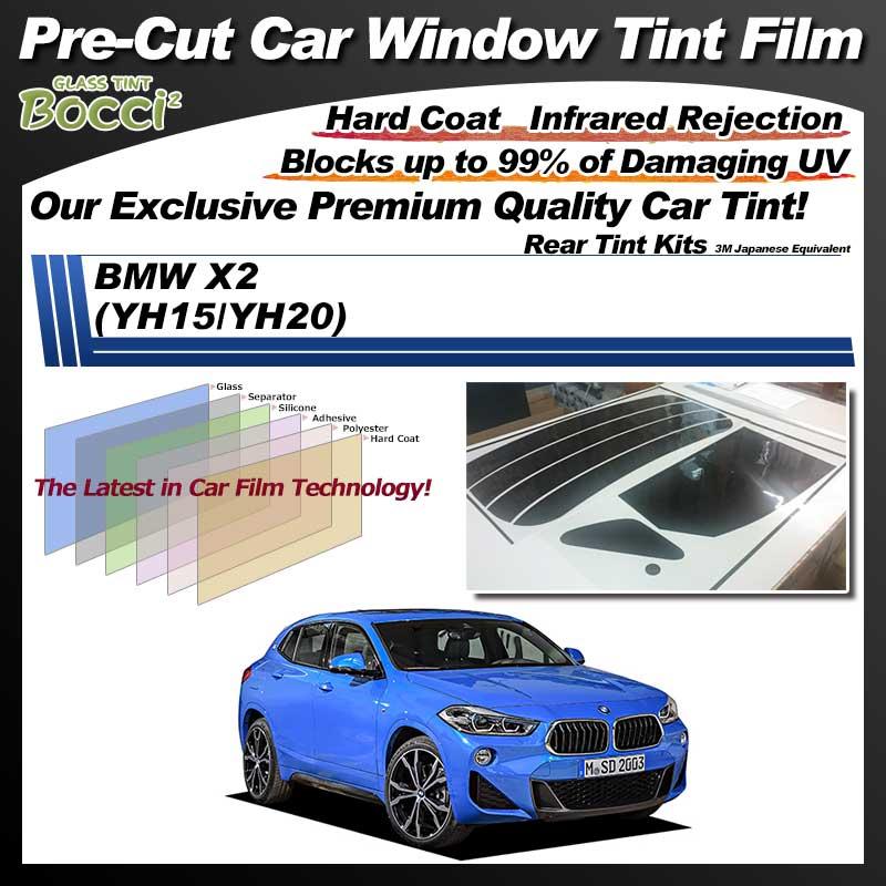 BMW X2 (YH15/YH20) Pre-Cut Car Tint Film UV IR 3M Japanese Equivalent