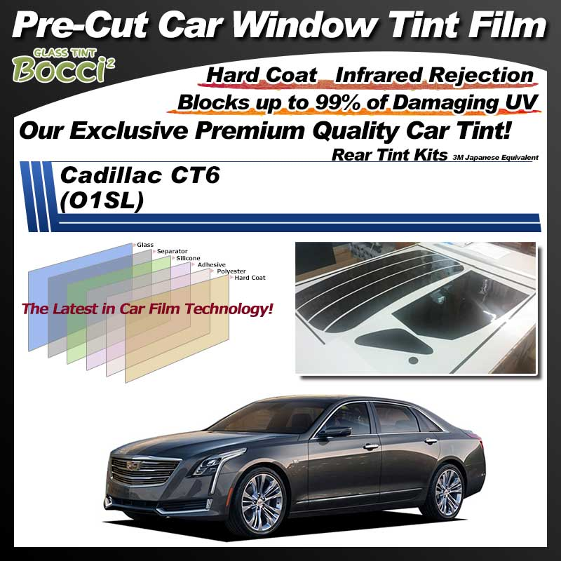 Cadillac CT6 (O1SL) Pre-Cut Car Tint Film UV IR 3M Japanese Equivalent