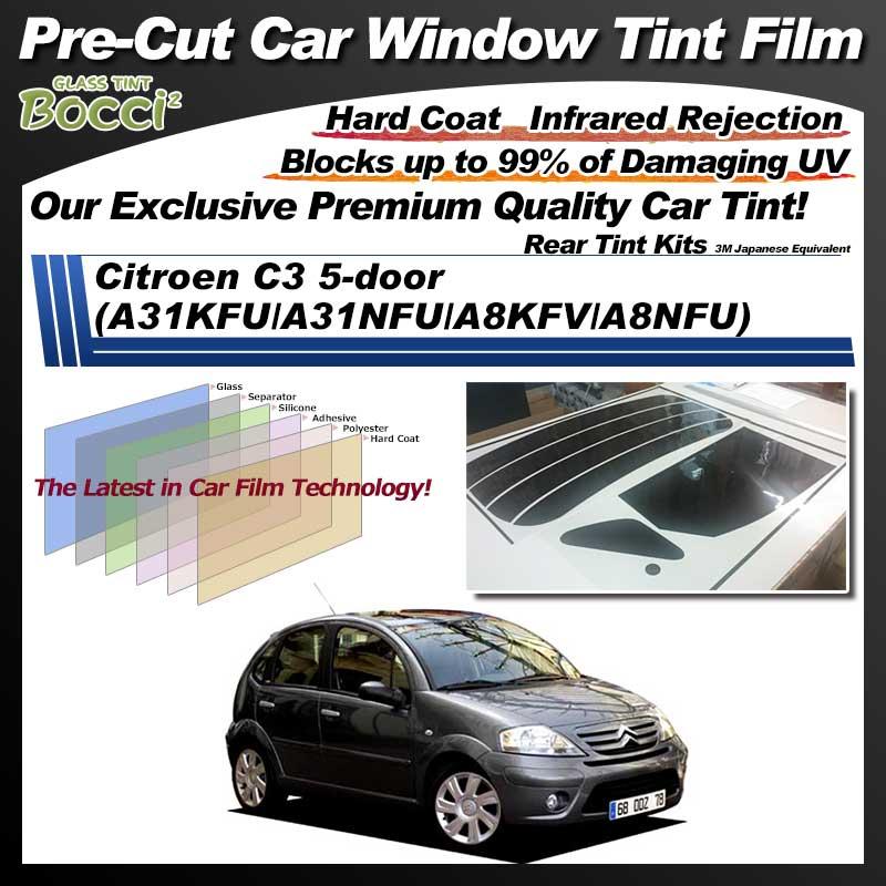 Citroen C3 5-door (A31KFU/A31NFU/A8KFV/A8NFU) Pre-Cut Car Tint Film UV IR 3M Japanese Equivalent