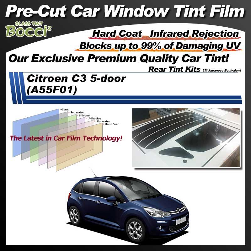 Citroen C3 5-door (A55F01) Pre-Cut Car Tint Film UV IR 3M Japanese Equivalent