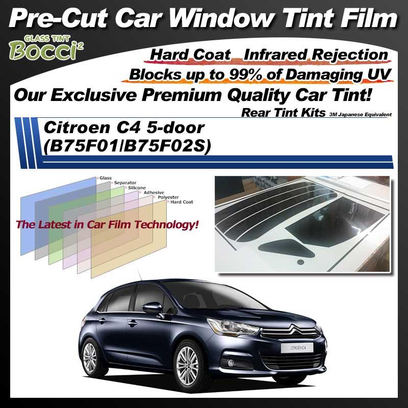 Citroen C4 5-door (B75F01/B75F02S) Pre-Cut Car Tint Film UV IR 3M Japanese Equivalent