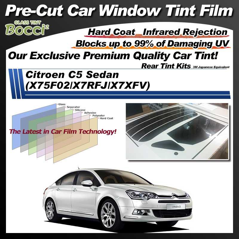 Citroen C5 Sedan (X75F02/X7RFJ/X7XFV) Pre-Cut Car Tint Film UV IR 3M Japanese Equivalent