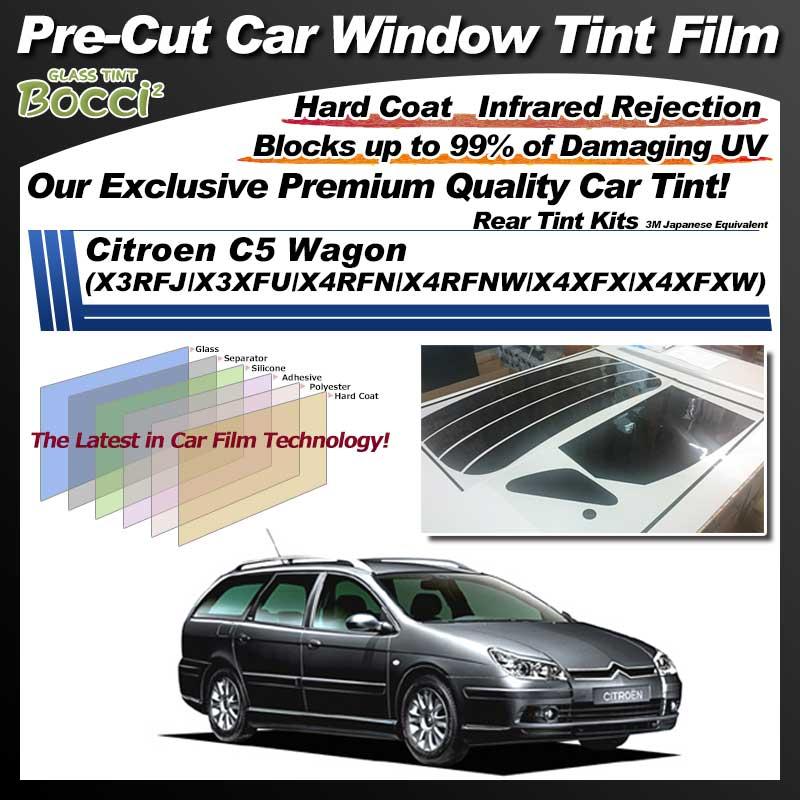 Citroen C5 Wagon (X3RFJ/X3XFU/X4RFN/X4RFNW/X4XFX/X4XFXW) Pre-Cut Car Tint Film UV IR 3M Japanese Equivalent