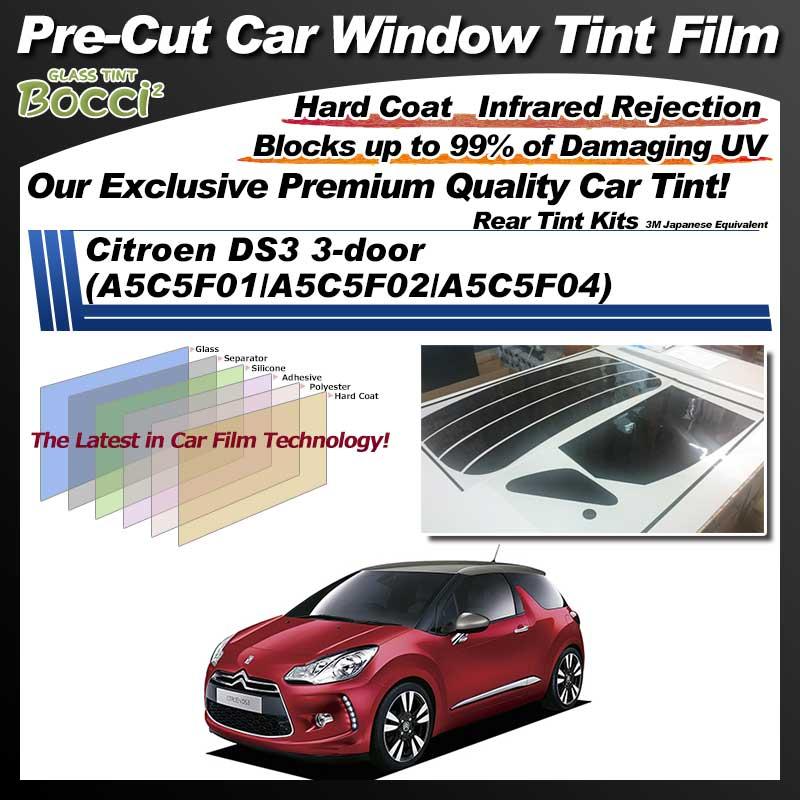 Citroen DS3 3-door (A5C5F01/A5C5F02/A5C5F04) Pre-Cut Car Tint Film UV IR 3M Japanese Equivalent