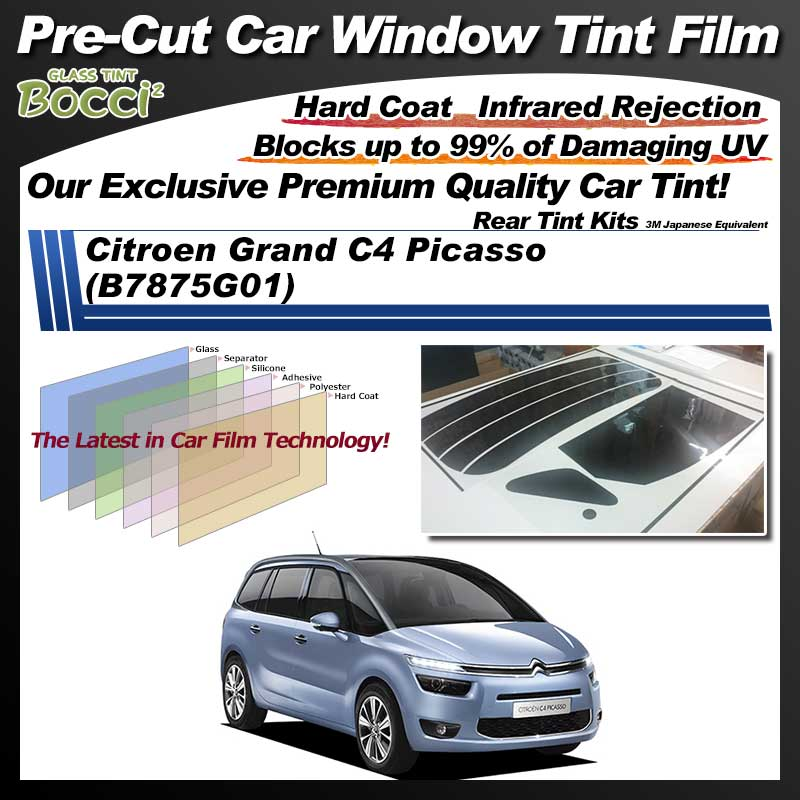 Citroen Grand C4 Picasso (B7875G01) Pre-Cut Car Tint Film UV IR 3M Japanese Equivalent