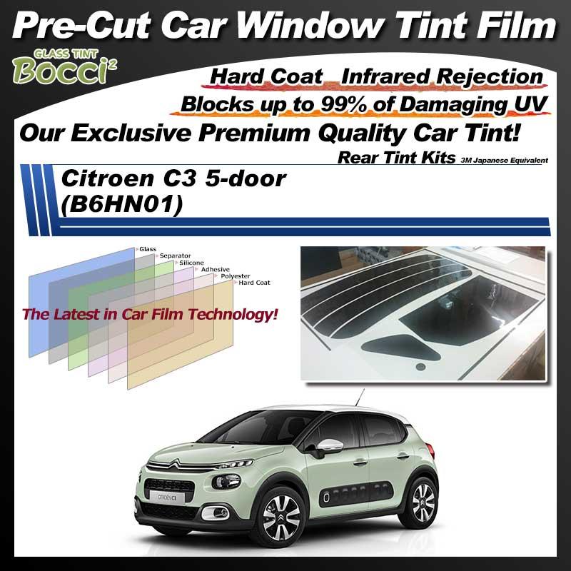 Citroen C3 5-door (B6HN01) Pre-Cut Car Tint Film UV IR 3M Japanese Equivalent