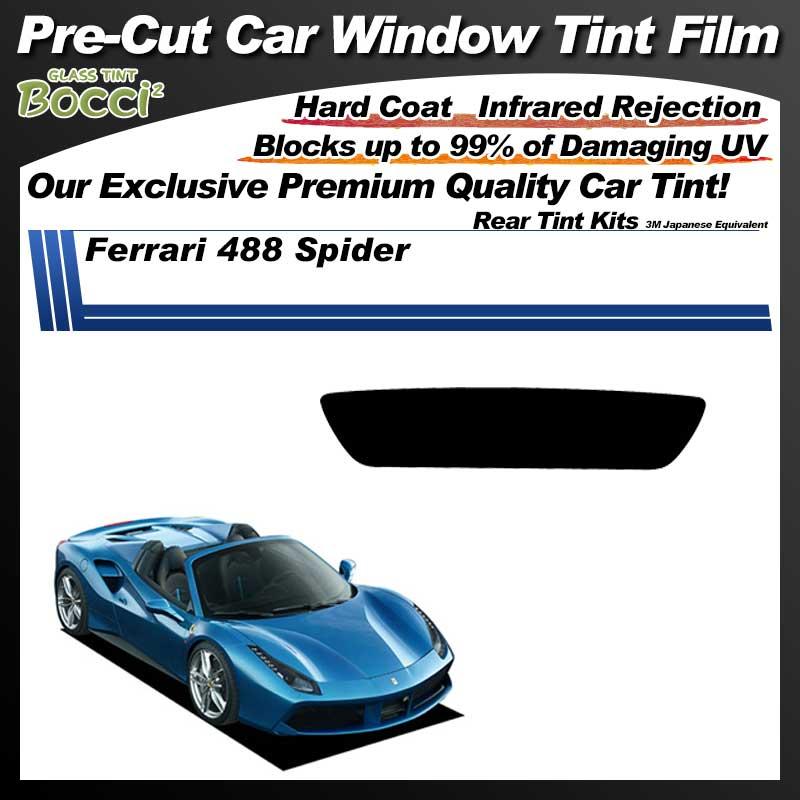 Ferrari 488 Spider Pre-Cut Car Tint Film UV IR 3M Japanese Equivalent