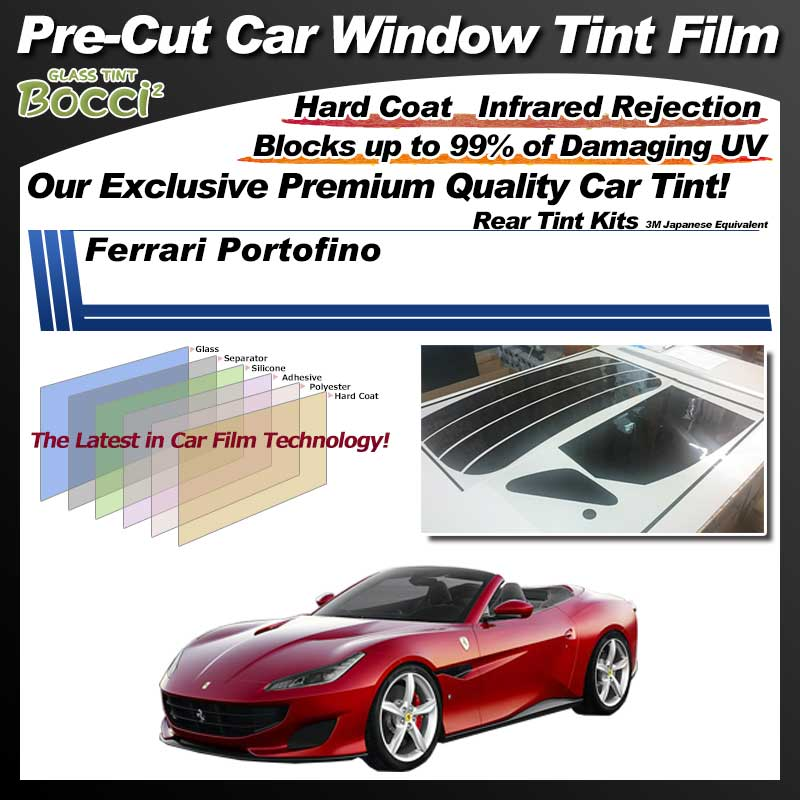 Ferrari Portofino Pre-Cut Car Tint Film UV IR 3M Japanese Equivalent