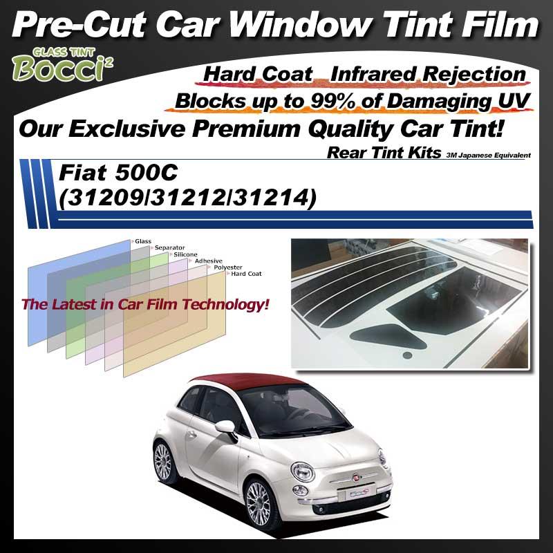 Fiat 500C (31209/31212/31214) Pre-Cut Car Tint Film UV IR 3M Japanese Equivalent