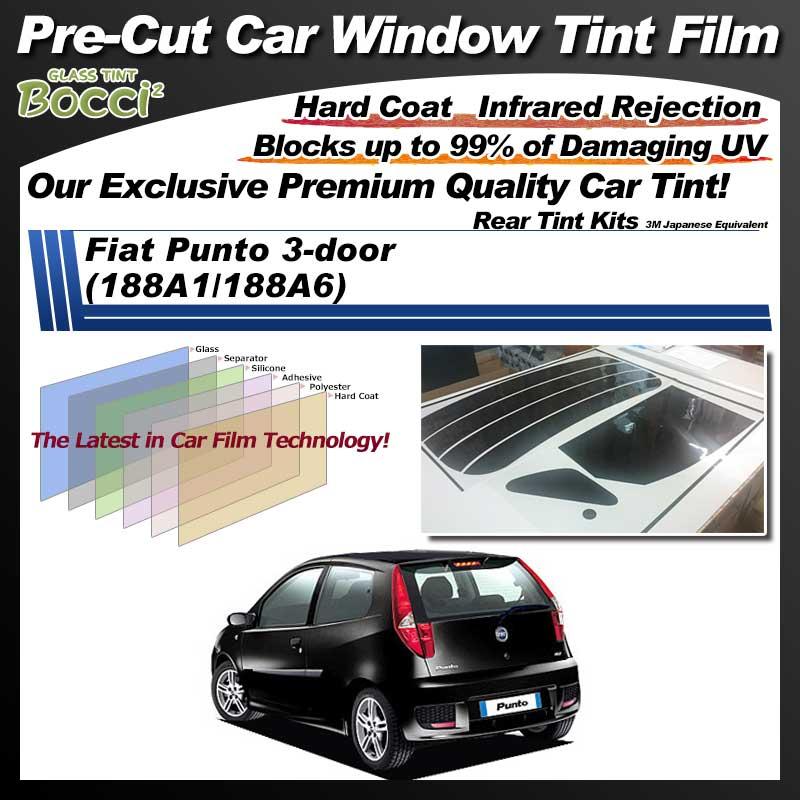 Fiat Punto 3-door (188A1/188A6) Pre-Cut Car Tint Film UV IR 3M Japanese Equivalent