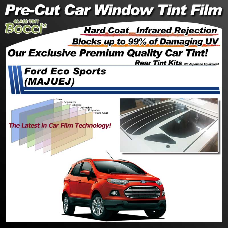 Ford Eco Sports (MAJUEJ) Pre-Cut Car Tint Film UV IR 3M Japanese Equivalent