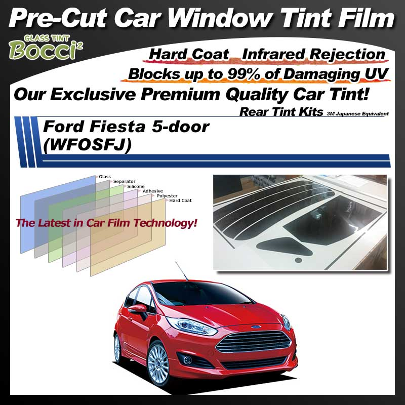Ford Fiesta 5-door (WFOSFJ) Pre-Cut Car Tint Film UV IR 3M Japanese Equivalent