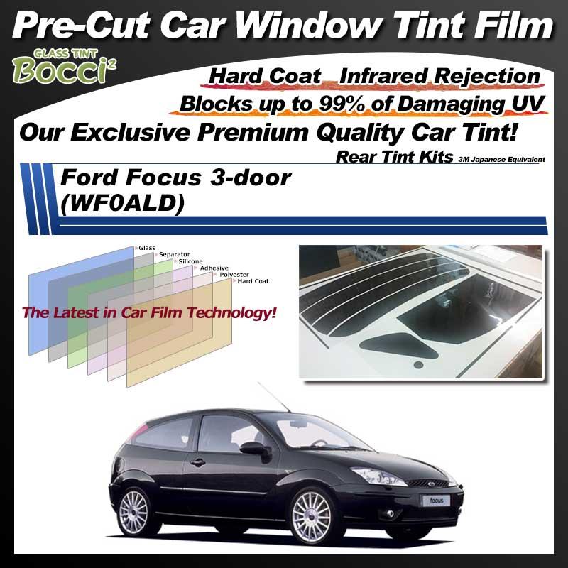 Ford Focus 3-door (WF0ALD) Pre-Cut Car Tint Film UV IR 3M Japanese Equivalent