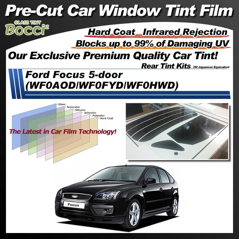 Ford Focus 5-door (WF0AOD/WF0FYD/WF0HWD) Pre-Cut Car Tint Film UV IR 3M Japanese Equivalent