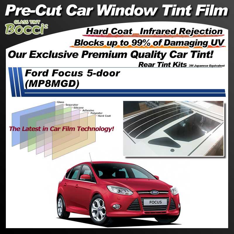 Ford Focus 5-door (MP8MGD) Pre-Cut Car Tint Film UV IR 3M Japanese Equivalent