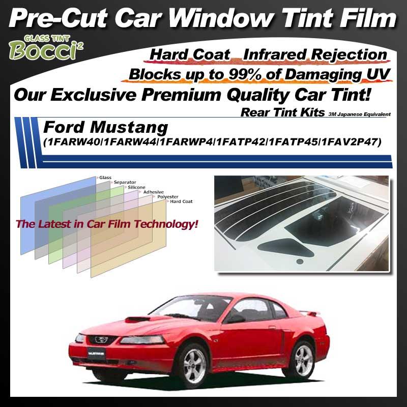 Ford Mustang (1FARW40/1FARW44/1FARWP4/1FATP42/1FATP45/1FAV2P47) Pre-Cut Car Tint Film UV IR 3M Japanese Equivalent