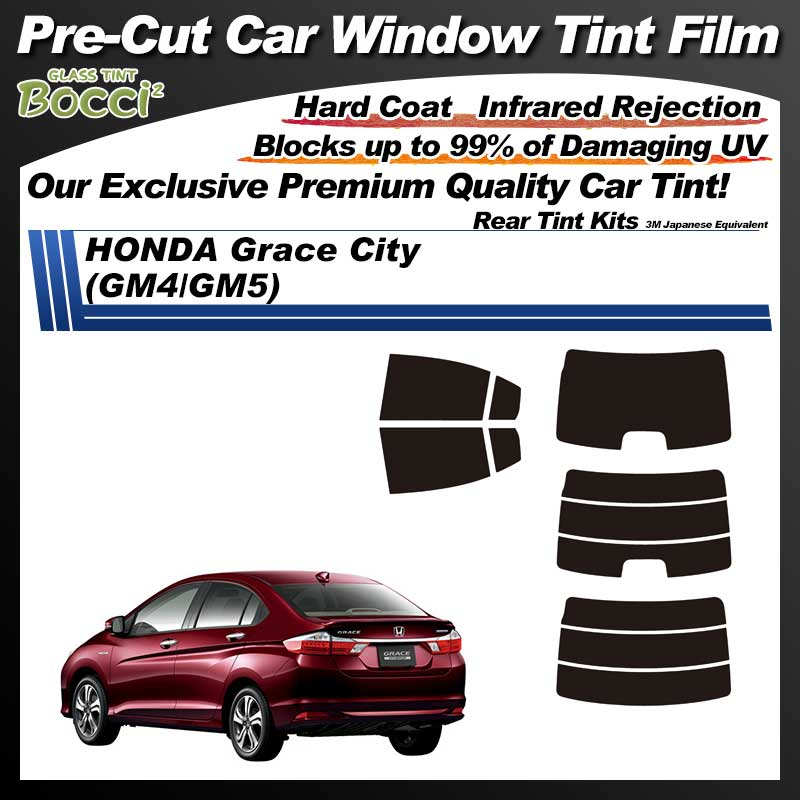 HONDA Grace City (GM4/GM5) Pre-Cut Car Tint Film UV IR 3M Japanese Equivalent