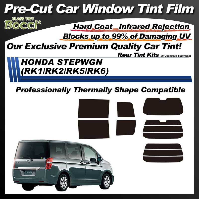 HONDA Step Wagon (RK1/RK2/RK5/RK6) Professionally Thermally Shape Pre-Cut Car Tint Film UV IR 3M Japanese Equivalent