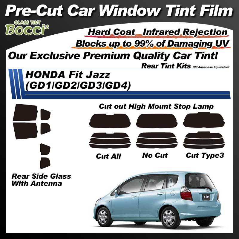 HONDA Fit Jazz (GD1/GD2/GD3/GD4) Pre-Cut Car Tint Film UV IR 3M Japanese Equivalent