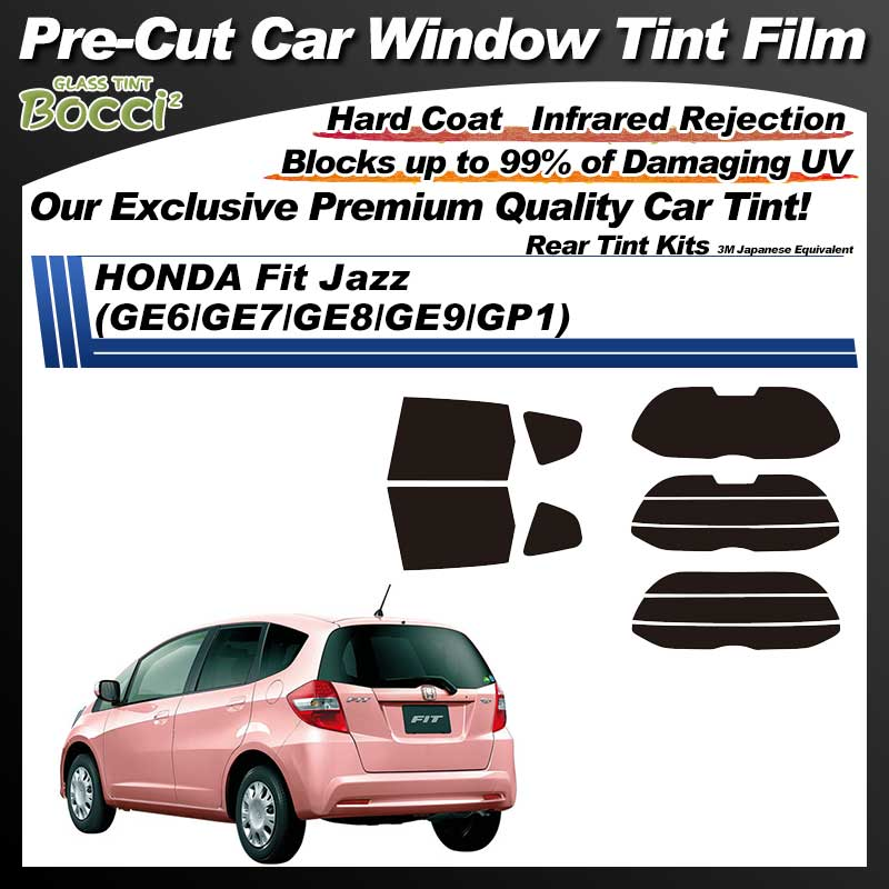 HONDA Fit Jazz (GE6/GE7/GE8/GE9/GP1) Pre-Cut Car Tint Film UV IR 3M Japanese Equivalent