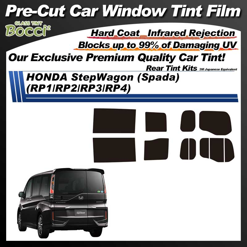 HONDA StepWagon (Spada) (RP1/RP2/RP3/RP4) Pre-Cut Car Tint Film UV IR 3M Japanese Equivalent