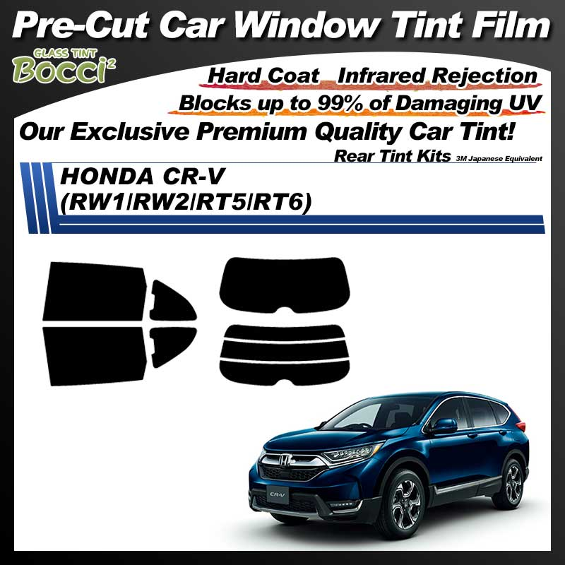 HONDA CR-V (RW1/RW2/RT5/RT6) Pre-Cut Car Tint Film UV IR 3M Japanese Equivalent