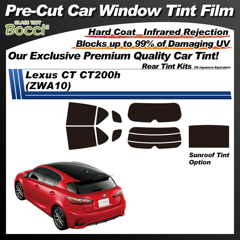 Lexus CT (ZWA10) With Sunroof Pre-Cut Car Tint Film UV IR 3M Japanese Equivalent
