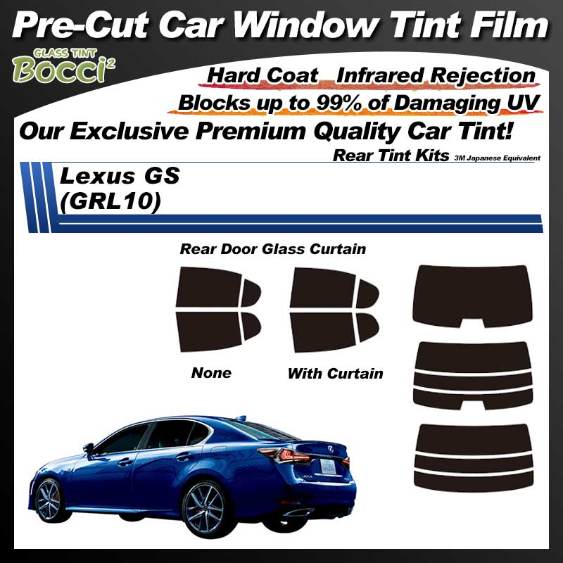 Lexus GS (GRL10) Pre-Cut Car Tint Film UV IR 3M Japanese Equivalent
