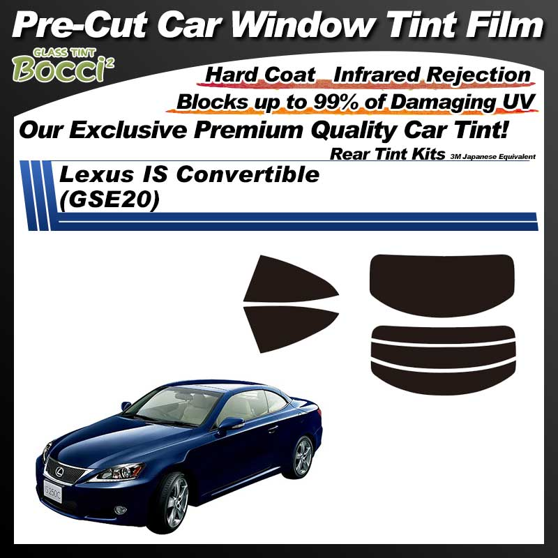 Lexus IS Convertible (GSE20) Pre-Cut Car Tint Film UV IR 3M Japanese Equivalent