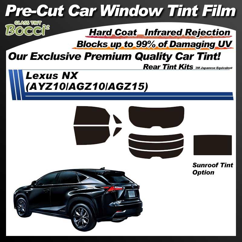 Lexus NX (AYZ10/AGZ10/AGZ15) With Sunroof Pre-Cut Car Tint Film UV IR 3M Japanese Equivalent