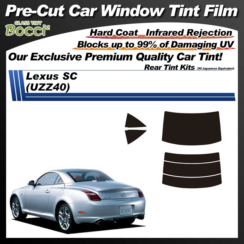 Lexus SC (UZZ40) Pre-Cut Car Tint Film UV IR 3M Japanese Equivalent