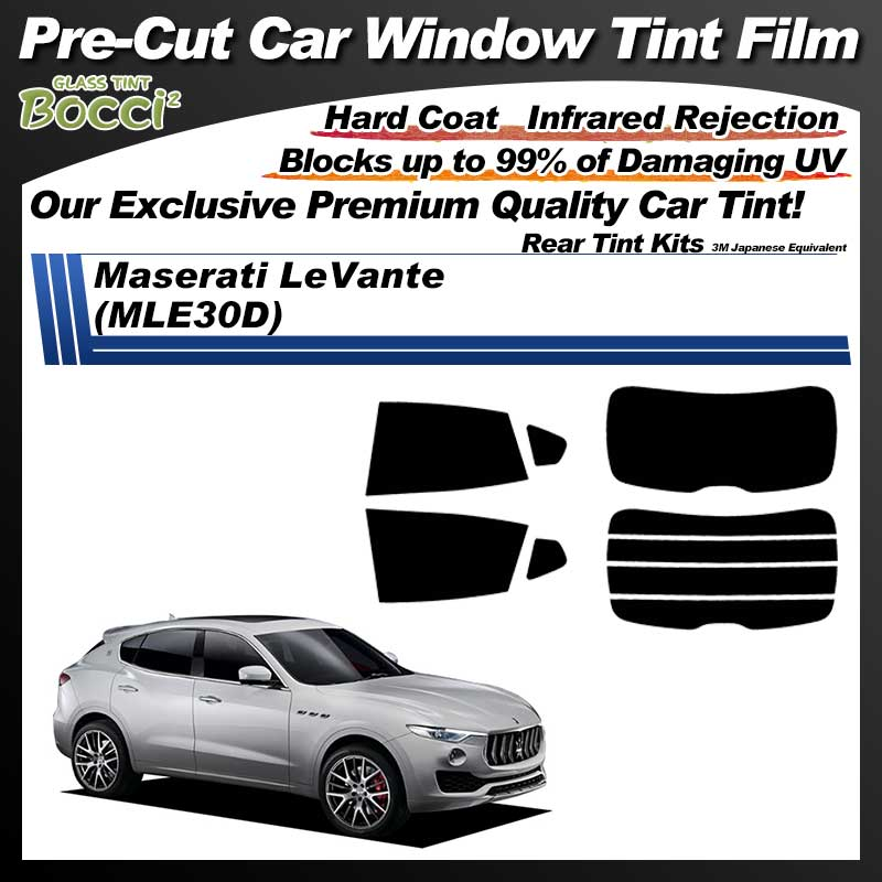 Maserati LeVante (MLE30D) Pre-Cut Car Tint Film UV IR 3M Japanese Equivalent