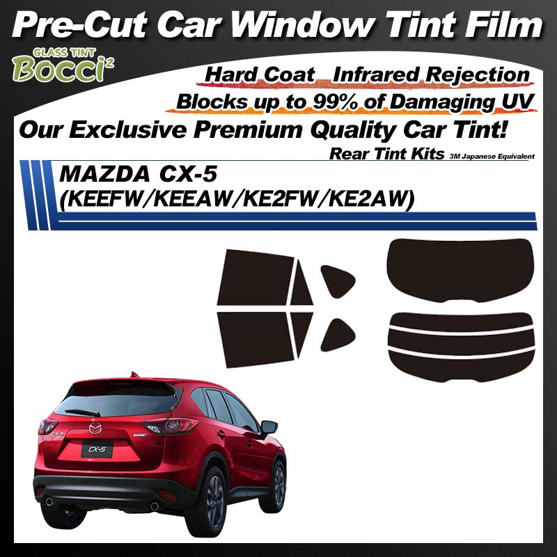 MAZDA CX-5 (KEEFW) Pre-Cut Car Tint Film UV IR 3M Japanese Equivalent