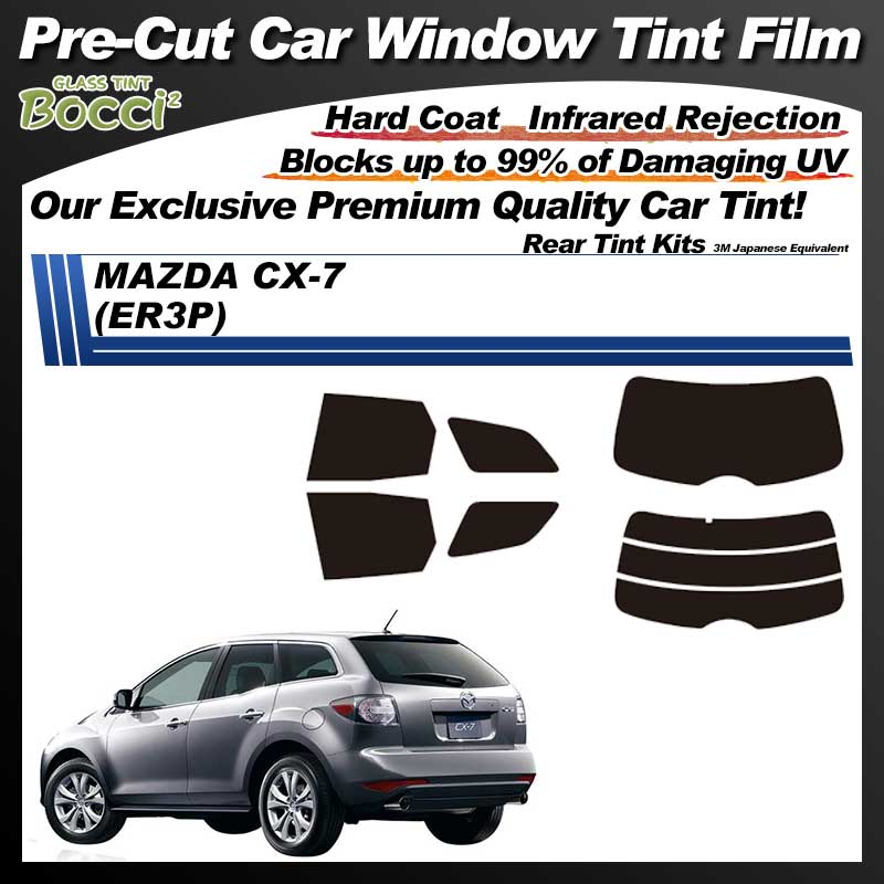 MAZDA CX-7 (ER3P) Pre-Cut Car Tint Film UV IR 3M Japanese Equivalent