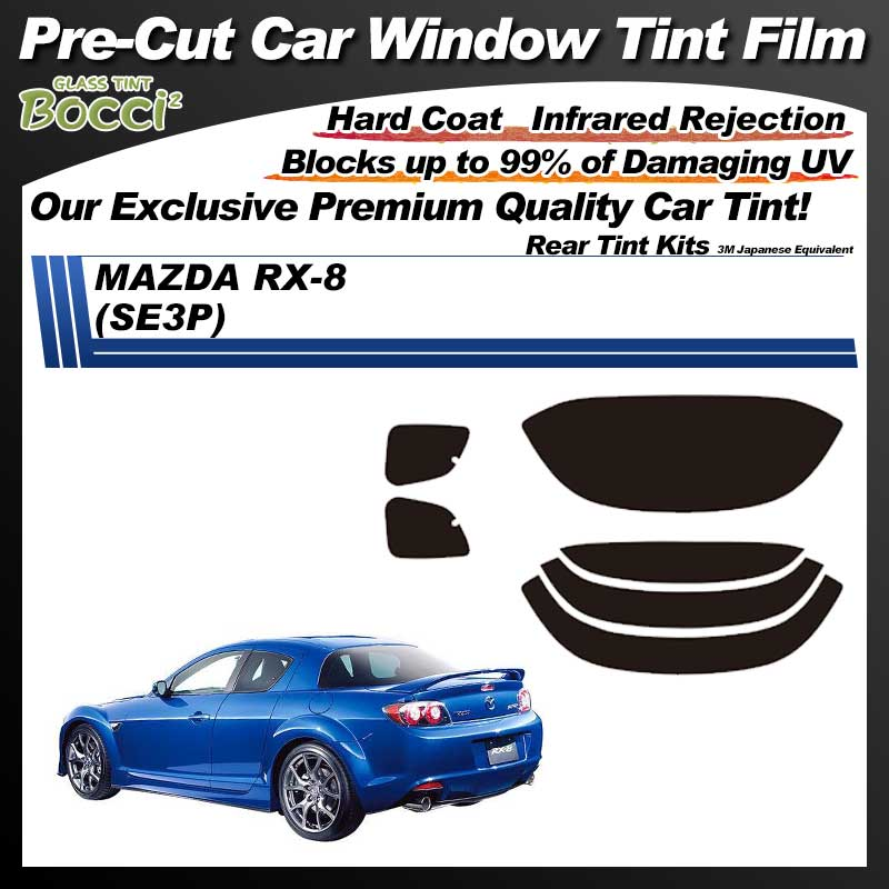 MAZDA RX-8 (SE3P) Pre-Cut Car Tint Film UV IR 3M Japanese Equivalent