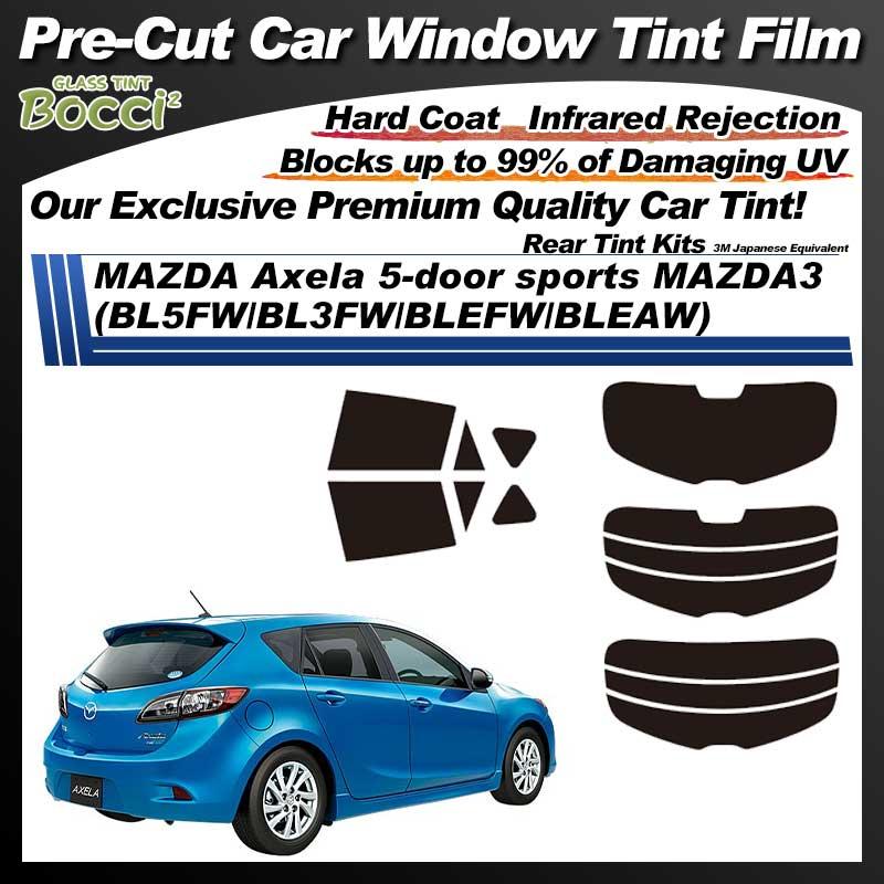 MAZDA Axela 5-door sports MAZDA3 (BL5FW/BL3FW/BLEFW/BLEAW) Pre-Cut Car Tint Film UV IR 3M Japanese Equivalent