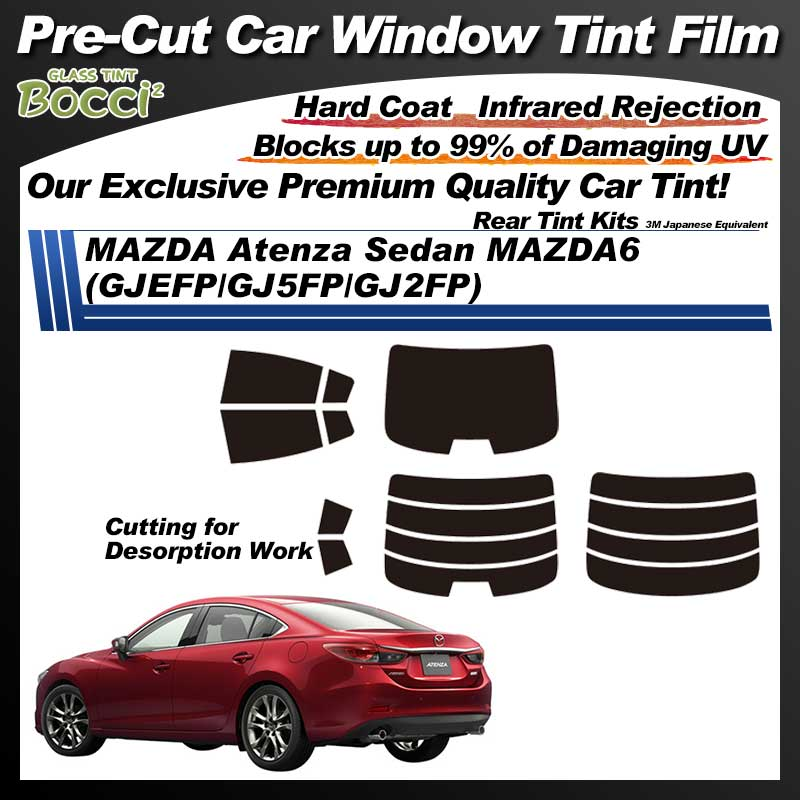MAZDA Atenza Sedan MAZDA6 (GJEFP/GJ5FP/GJ2FP) Pre-Cut Car Tint Film UV IR 3M Japanese Equivalent