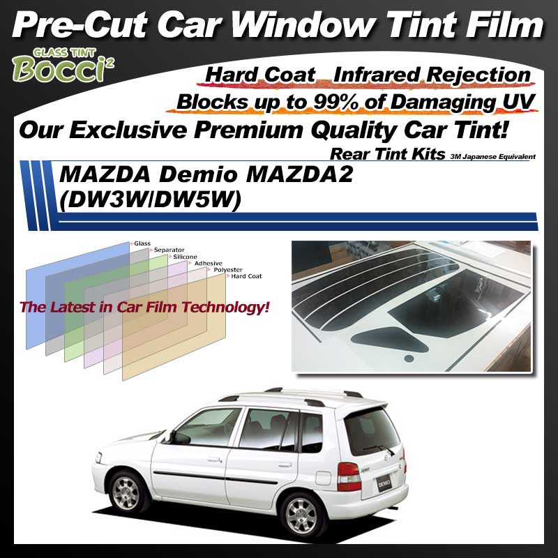 MAZDA Demio MAZDA2 (DW3W/5W) Pre-Cut Car Tint Film UV IR 3M Japanese Equivalent