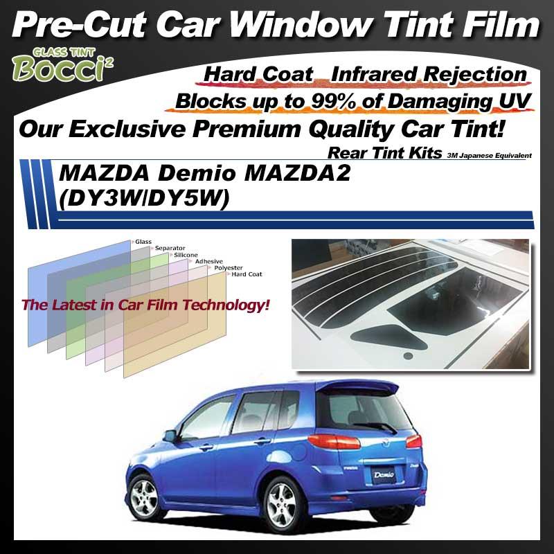 MAZDA Demio MAZDA2 (DY3W/DY5W) Pre-Cut Car Tint Film UV IR 3M Japanese Equivalent