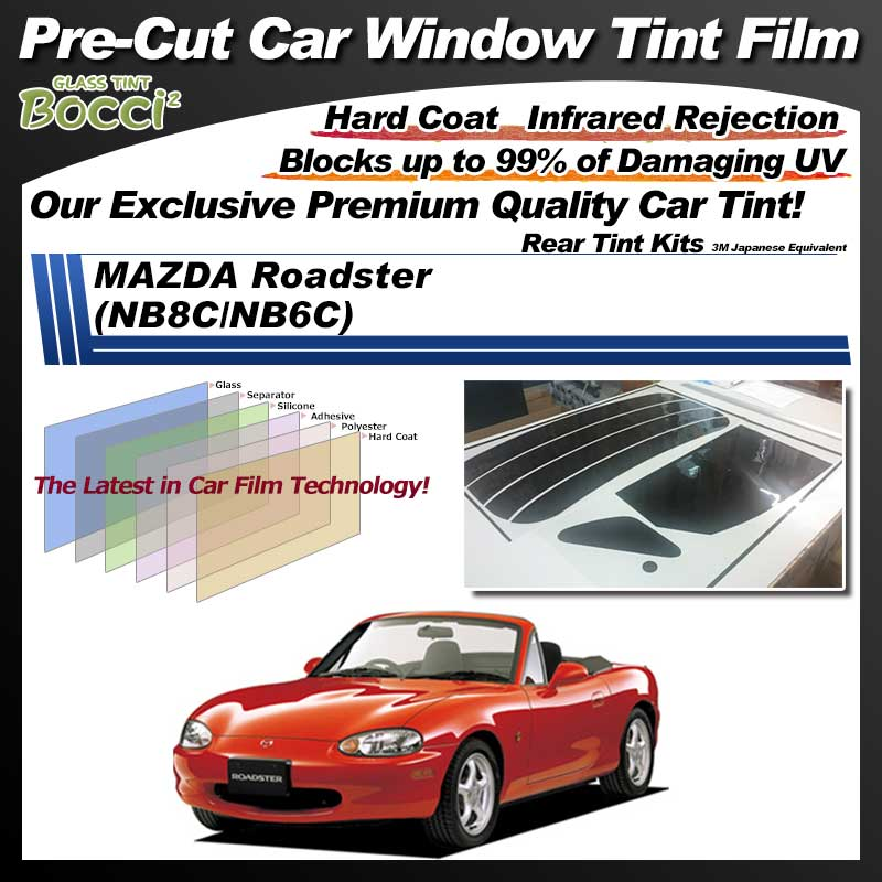 MAZDA Roadster (NB8C/NB6C) Pre-Cut Car Tint Film UV IR 3M Japanese Equivalent