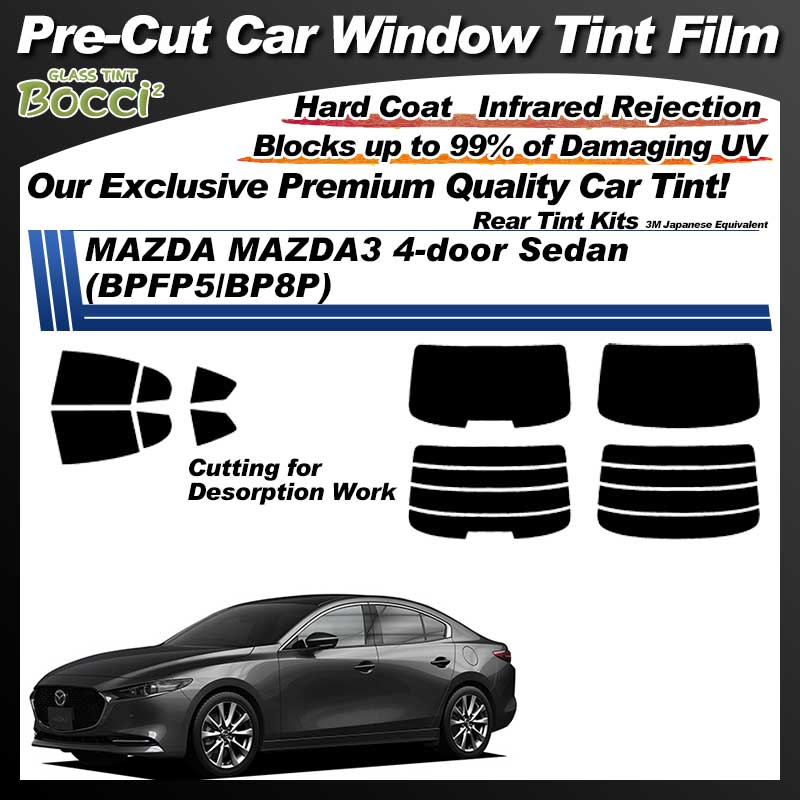 MAZDA MAZDA3 4-door Sedan (BPFP5/BP8P) Pre-Cut Car Tint Film UV IR 3M Japanese Equivalent