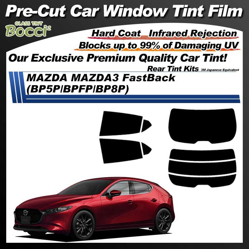 MAZDA MAZDA3 FastBack (BP5P/BPFP/BP8P) Pre-Cut Car Tint Film UV IR 3M Japanese Equivalent