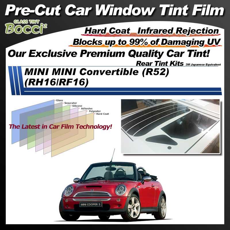 MINI MINI Convertible (R52) (RH16/RF16) Pre-Cut Car Tint Film UV IR 3M Japanese Equivalent