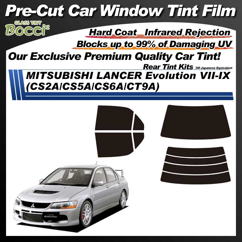 MITSUBISHI Lancer Sedan (Cedia Evo VII ~ IX) (CS2A/CS5A/CT9A) Pre-Cut Car Tint Film UV IR 3M Japanese Equivalent