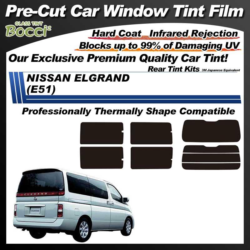 NISSAN ELGRAND (E51) Professionally Thermally Shape Pre-Cut Car Tint Film UV IR 3M Japanese Equivalent
