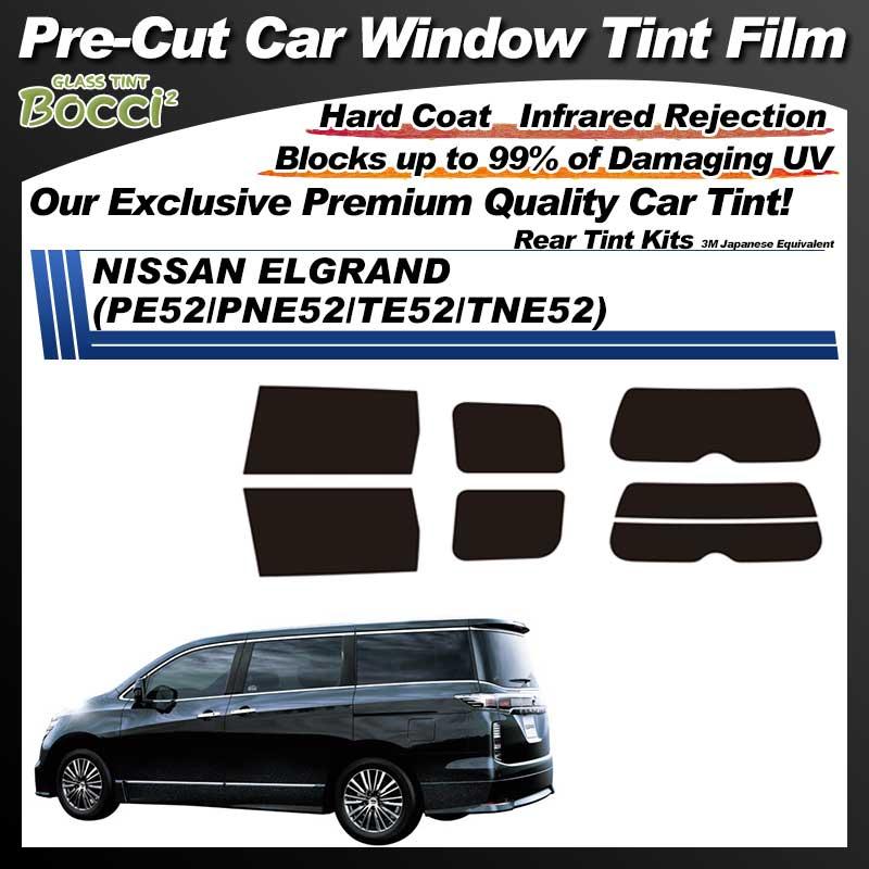 NISSAN ELGRAND (PE52/PNE52/TE52/TNE52) Pre-Cut Car Tint Film UV IR 3M Japanese Equivalent