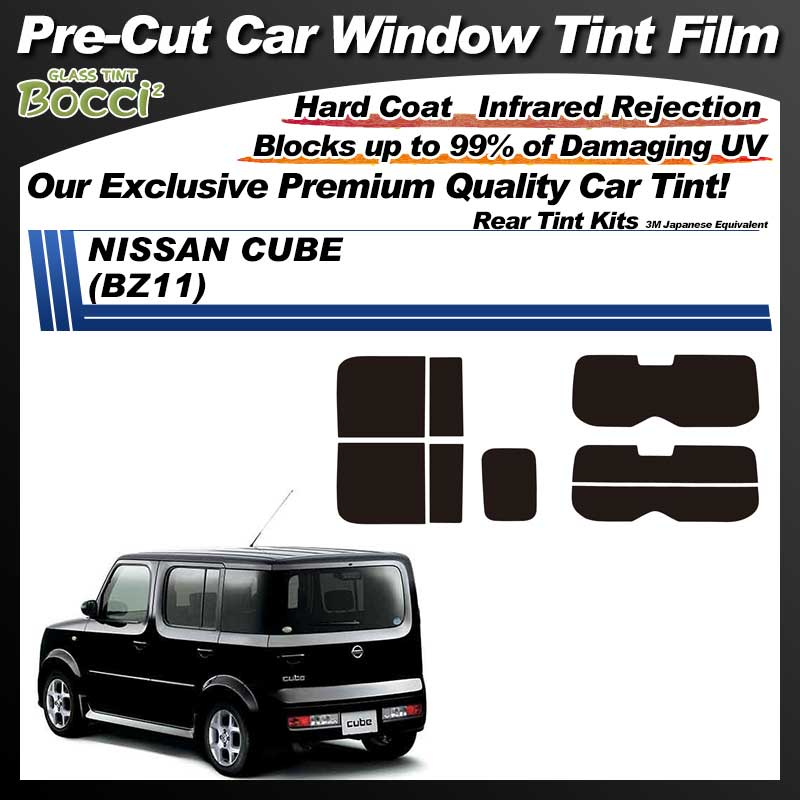 NISSAN Cube (BZ11) Pre-Cut Car Tint Film UV IR 3M Japanese Equivalent