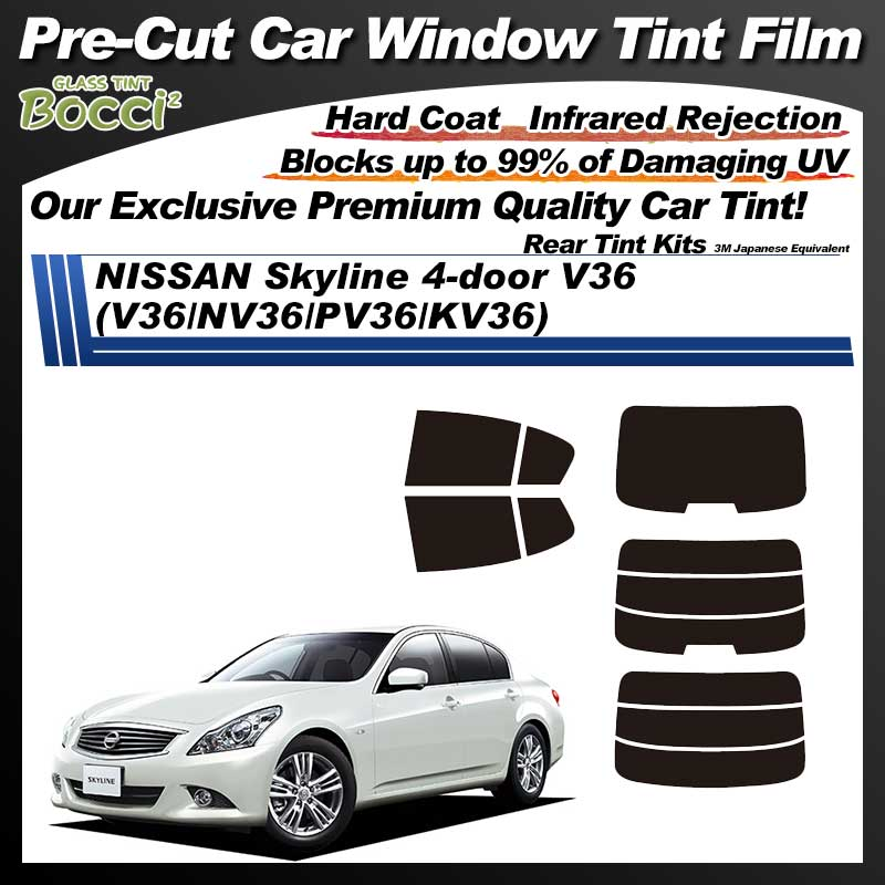 NISSAN Skyline 4-doors R36 (V36/NV36/PV36) Pre-Cut Car Tint Film UV IR 3M Japanese Equivalent
